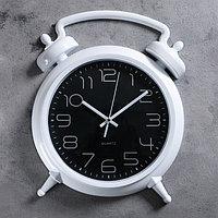 Часы настенные, серия Классика, 'Большой будильник', дискретный ход, 36 х 28 см, d22.5 см