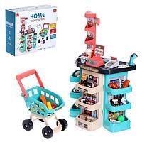 Игровой модуль 'Супермаркет', 47 предметов, бирюзовый