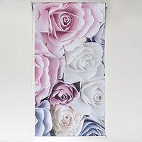 Штора рулонная 3D принт 'Розы', 60x200 см (с учётом креплений 3,5 см)