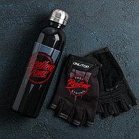 Набор для тренировок 'Спорт' бутылка 600 мл, перчатки р-р L