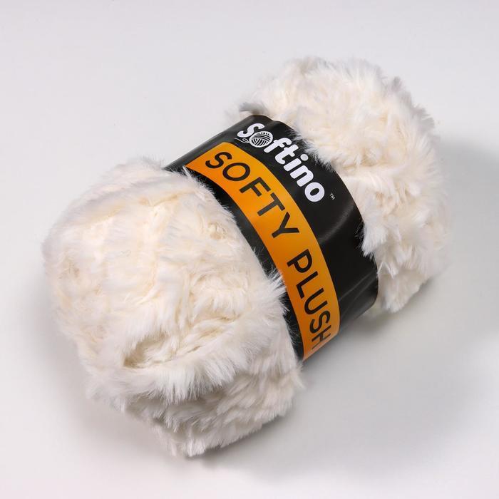 Пряжа фантазийная 100 микрофибра 'Softy plush' 100 гр 65 м белоснежный (комплект из 10 шт.) - фото 2