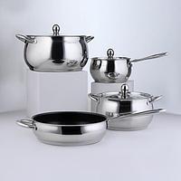 Набор посуды 'Танто', 4 предмета 2 л, 3,8 л, 6,6 л , а/п сковорода 2,9 л, индукция