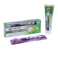 Набор Dabur Herb'l Olive зубная паста, 190 г + зубная щётка