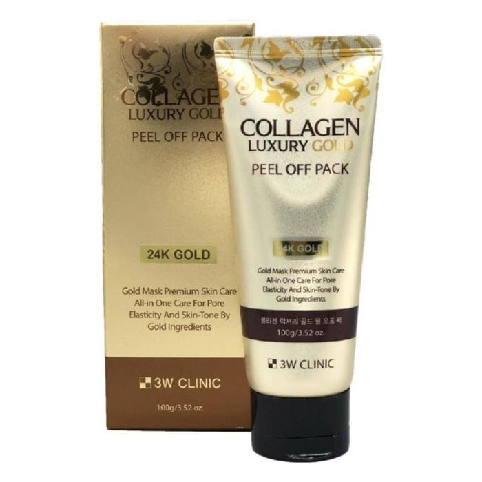 Золотая маска-плёнка для лица 3W Clinic Collagen Luxury Gold, 100 мл - фото 4