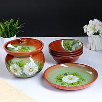 Набор посуды 'Ирина', 6 предметов супница, блюдо, 4 миски МИКС