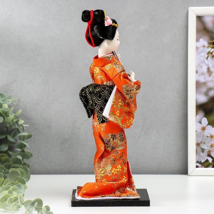 Кукла коллекционная 'Гейша с музыкальным инструментом' 32х12,5х12,5 см - фото 2