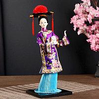 Кукла коллекционная 'Китаянка в национ. платье с письменами' МИКС 32х12,5х12,5 см