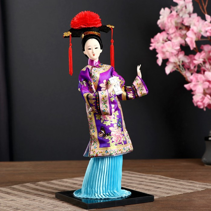 Кукла коллекционная 'Китаянка в национ. платье с письменами' МИКС 32х12,5х12,5 см - фото 1