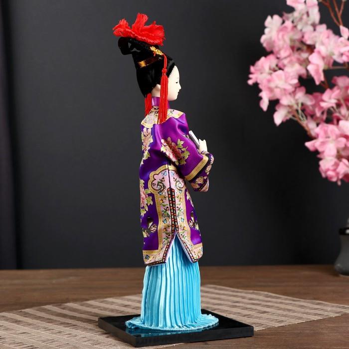 Кукла коллекционная 'Китаянка в национ. платье с письменами' МИКС 32х12,5х12,5 см - фото 2