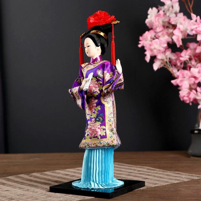 Кукла коллекционная 'Китаянка в национ. платье с письменами' МИКС 32х12,5х12,5 см - фото 4