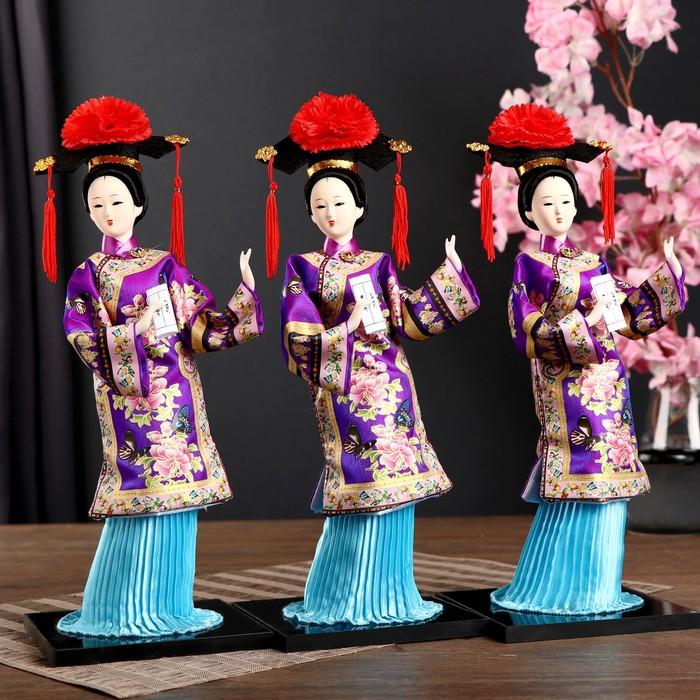 Кукла коллекционная 'Китаянка в национ. платье с письменами' МИКС 32х12,5х12,5 см - фото 6