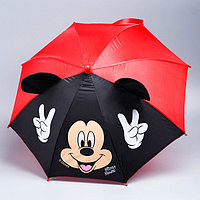 Зонт детский с ушами 'Отличное настроение', Микки Маус 52 см