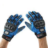 Перчатки для езды на мототехнике, с защитными вставками, пара, размер XL, синий