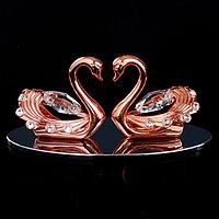 Сувенир с кристаллами Swarovski 'Пара лебедей' 10,2х4,5 см