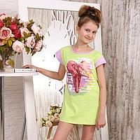 Туника детская, цвет салатовый, размер 36