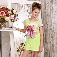 Туника детская, цвет салатовый, размер 38