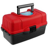 Ящик Helios трёхполочный, цвет красный