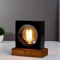 Лампа настольная 2070/1nBK E27 60Вт черный 18х18х10 см