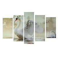 Картина модульная на подрамнике 'Царевна-лебедь' 2-25х52, 2-25х66,5,1-25х80, 80*140 см