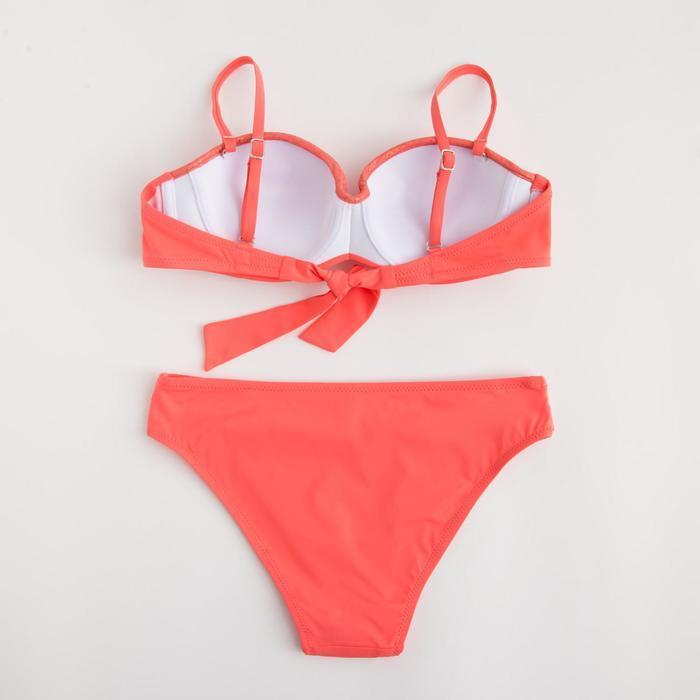 Купальник женский раздельный, цвет розовый, р-р 48 (42) - фото 3