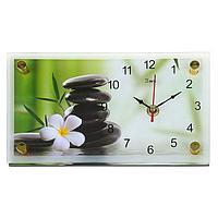 Часы настенно-настольные 'Цветок и камни', 13х23 см, микс