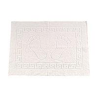 Полотенце махровое для ног, размер 50х70 см, белый, хлопок 100