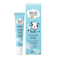 Консилер для лица Belita Young Skin No Filter, 'Матовый эффект', тон универсальный, 20 мл