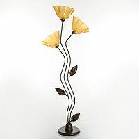 Торшер 'Соцветие' 3x15Вт E27 коричневый