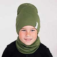 Комплект для мальчика, цвет хаки, размер 54-58