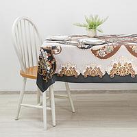 Клеёнка столовая на тканой основе 'Шах', 140x180 см, рулон 10 скатертей