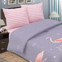 Постельное бельё 2сп Pastel 'Фламинго', 175х217, 180х220, 70х70см - 2 шт, поплин