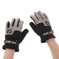 Перчатки для езды на мототехнике, зимние до -20, одноразмерные, черно-серый