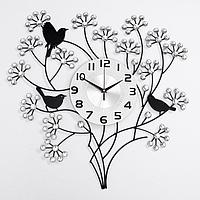 Часы настенные, серия Ажур, 'Весенний букет', плавный ход, 60 х 60 см, d циферблата22 см