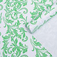 Бумага упаковочная крафт 'Ветки зеленые-белые', 0,6 х 10 м, 70 г/м