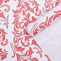 Бумага упаковочная крафт 'Ветки белые-красные', 0,6 х 10 м, 70 г/м