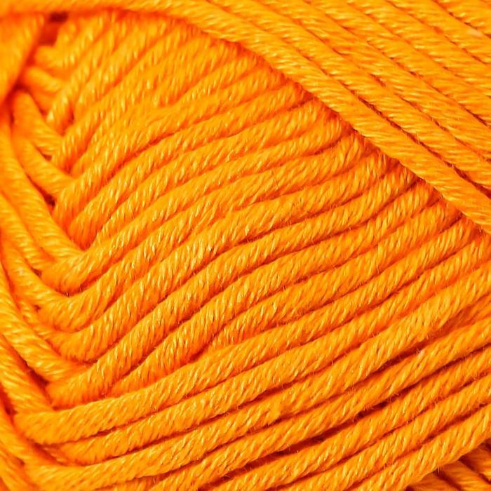Пряжа 'Muskat' 100 мерсеризованный хлопок 100м/50гр (51 жёлто-оранж.) - фото 3
