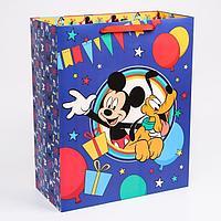 Пакет ламинат вертикальный 'С Днем рождения', Микки Маус, 40х49х19 см