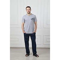 Костюм мужской (футболка, брюки) 'Эрик', цвет серый, размер 48