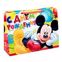 Пакет ламинированный горизонтальный 'Веселого праздника!' ,Микки Маус, 46 х 61 см