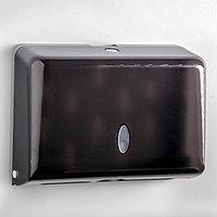 Диспенсер для бумажных полотенец в листах, пластиковый (макс. 200 шт), цвет чёрный
