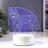 Светильник 'Волк' LED RGB от сети 9,5х14,5х17 см