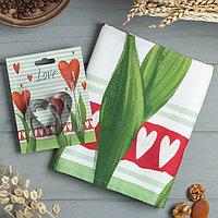 Набор 'Love' полотенце 40х73см, саржа 190гр/м2, формочки для печенья