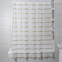 Штора для ванной комнаты Доляна 'Лайн', 180x180 см, EVA, цвет белый