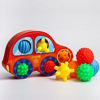 Подарочный набор развивающих, массажных мячиков 'Машинка' 5 шт., цвета и формы МИКС