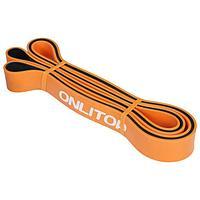 Эспандер ленточный, многофункциональный, 208 х 2,9 х 0,45 см, 11-36 кг, цвет оранжевый/чёрный