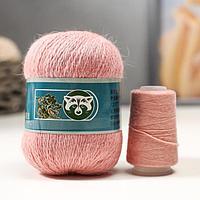 Пряжа 'Mink wool' 90 пух норки,10 полиамид 350м/50гр + нитки (031 пудра)