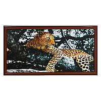 Картина 'Леопард на дереве' 56х106см рамка микс