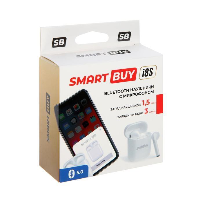 Наушники Smartbuy i8S SBH-3033, беспроводные, вкладыши, микрофон, BT v5.0, 40/400 мАч, белые - фото 7