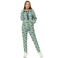 Комплект женский (кофта/брюки), цвет МИКС, размер 46