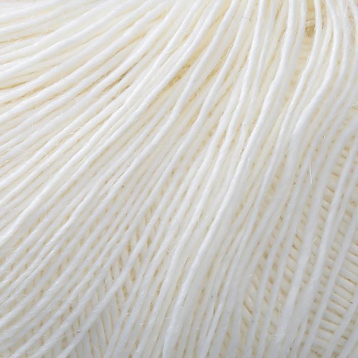 Пряжа 'Alpaca D'Italia' 50 альпака, 50 нейлон 300м/50гр (02 белый) - фото 4